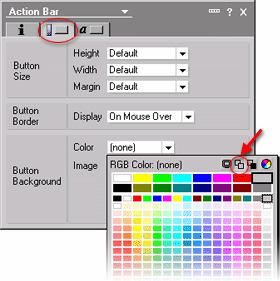 Click the Color control to bring up the color palette. Along the top of the color palette are icons that represent special color choices. Choose the None icon (circled above).
