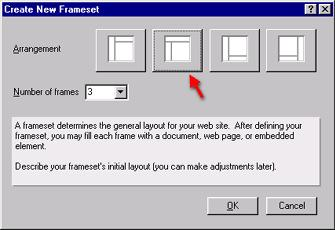 This displays Frameset design elements in the Work pane. Since you haven't yet created any framesets the pane is empty. Step 2.