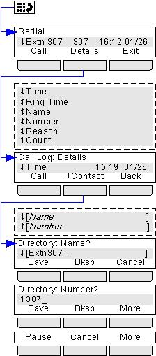 22.8 Redial Menu The Phone Menus: Contacts Menu This menu is accessed by pressing the key.