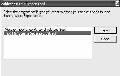 Word: Print Address Labels Using Mail Merge W 530 / 5 2. When the Address Book window appears, choose File > Export > Other Address Book. 3.