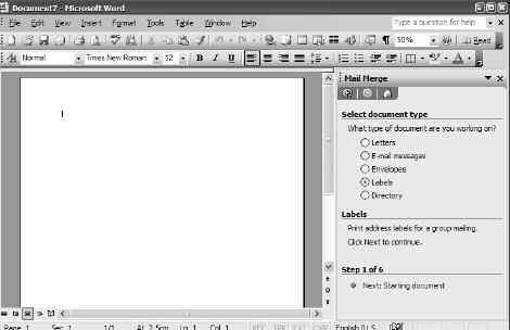 W 530 / 8 Word: Print Address Labels Using Mail Merge Using your addresses file to generate labels Follow These Steps to Create Your Mail Merge Labels in Word So, you ve created an Excel spreadsheet