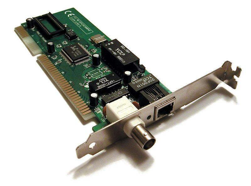 The Network Interface Card (NIC) is a circuit board that is physically installed within an active network node, such as a