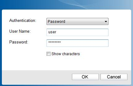 Password. With Certificate as your authentication, you need to select one specific certificate from the drop-down list, as shown in Figure 3-4.