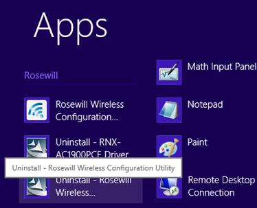 6.2.1 Uninstall the utility software from your PC 1. Enter the Apps interface.
