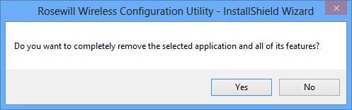 Utility. Figure 6-9 2. Click Yes to start uninstalling the utility software from your PC.