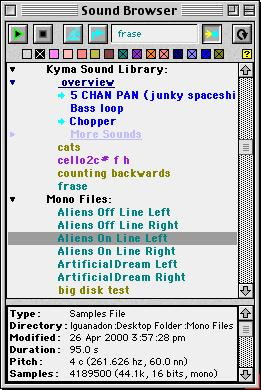 SYSTEM PROTOTYPES Select a prototype by clicking on its icon, or choose Find prototype from the Action menu (Cmd+B) anywhere in Kyma to