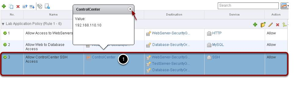 "Click on the ""x"" to close the Security Group pop-up window."