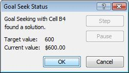 Goal Seek can be used to adjust any formula to a specified value by changing one cell in a spreadsheet.