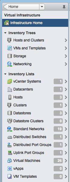 vsphere Web Client: Object Navigator Breaks the traditional hierarchy view of an object: Objects linked and displayed by