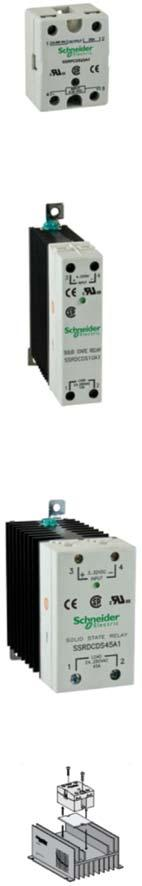 Solid State Relays Solid state relays with long life Input voltage range 3 to 32 Vdc, 90 to 280 Vac Breaking capacities up to 125 A No moving parts, no acoustical noise Fast response Arcless