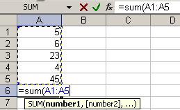 REFERENCING ADJACENT CELLS IN A FORMULA Instead of typing the cell addresses in a formula, you can reference the cells by selecting them with your mouse.