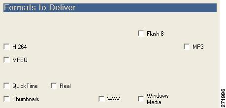 Delivery Chapter 7 Understanding Delivery Settings Each Delivery tab is made up of the following sections: Formats to Deliver Select Profiles Delivery Method Rename on Delivery Note You may choose to