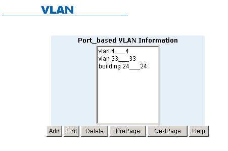 5-4-7-1. Basic VLAN Configuration By default, there are no VLANs set for the switch.