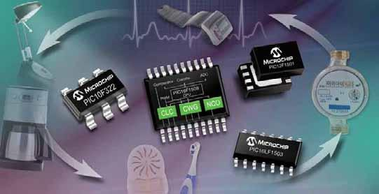 New 8-bit Microcontrollers with Integrated Configurable Logic in 6- to 20-pin Packages Microchip s new PIC10F/LF32X and PIC12/16F/LF150X 8-bit microcontrollers (MCUs) let you add functionality,