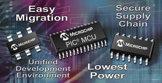 The Most Popular 8-bit Microcontrollers See what makes Microchip the most popular choice for embedded designers: Broad portfolio of more than 325 8-bit PIC microcontrollers Easy migration with pin