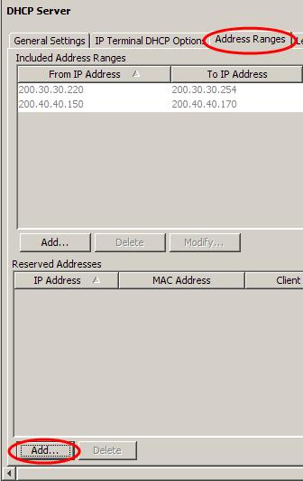 1. In Element Manager, select the Configuration tab and open the Data Services folder and select DHCP Server. 2.
