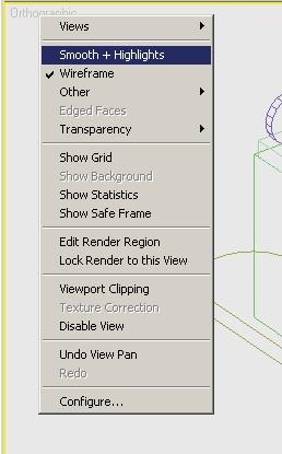 Viewport Right-Click Menu When you right-click a viewport label, a menu appears.