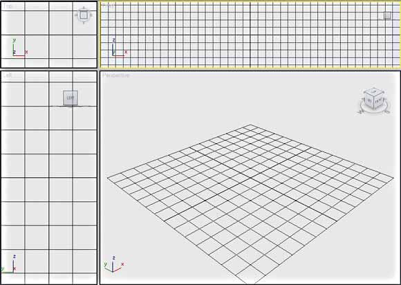 Adjusting Viewport Size The size of the viewports can be easily adjusted by clicking the line between the viewports, and then dragging it to