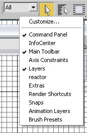 The Layers toolbar is floating. Toolbars are not always displayed by default. For instance, toolbars such as Layers or Reactor do not display when the program is started for the first time.