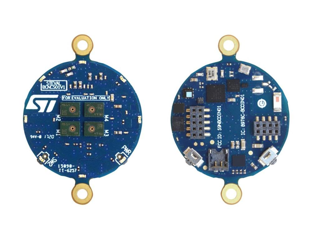 Content of the starter kit 1 Content of the starter kit STEVAL-BCNCS01V1 - BlueCoin Core System board features Very compact module for motion, audio and environmental sensing and Bluetooth low energy