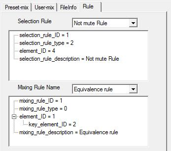 Selection Rule 1 available Mixing Rule
