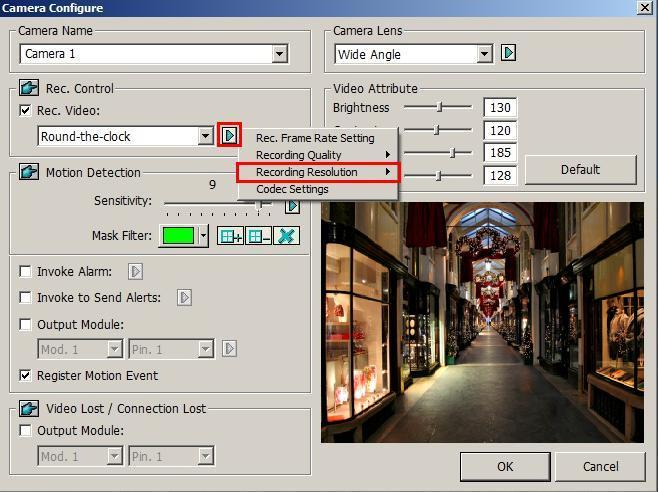 Click on the main screen, select A/V Setting and select Video Source. This dialog box appears. Figure 3-6 2.