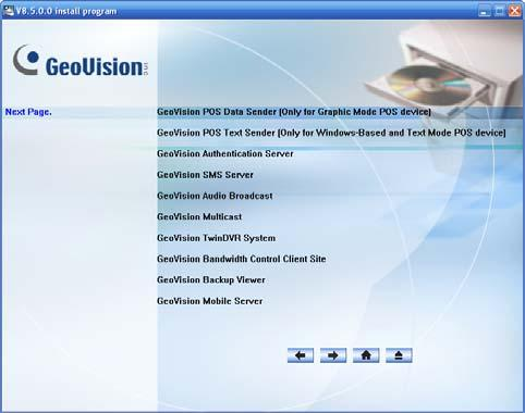 2 Software Installation 2.3 Program List The Surveillance System Software DVD includes the following programs: First Page: 1. Main System 2. Remote ViewLog 3.