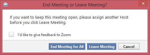 How to End a Meeting Conclude the meeting by clicking