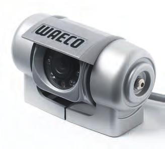Reversing cameras 5 OPTIONAL CAMERAS WAECO PerfectView CAM50C Colour camera WAECO PerfectView CAM18 Colour ball camera Colour camera (PAL) with LED Real-view or mirrored picture function Anodised and