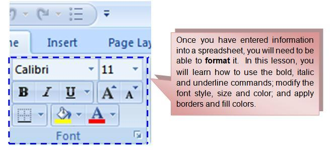 Left-click a cell to select it or drag your cursor over the text in the