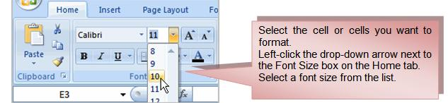 Left-click the drop-down arrow next to the Font Style box on the