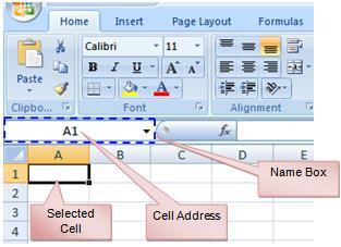 Type a division symbol. The operator displays in the cell and Formula bar. Click on the next cell in the formula.