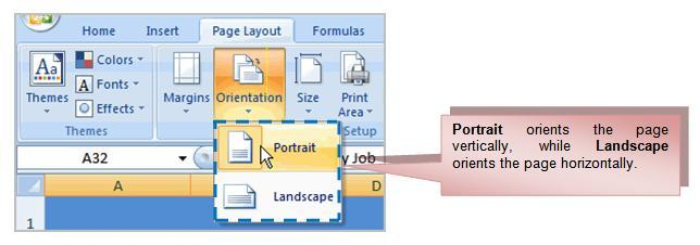 32 THE PNP BASIC COMPUTER ESSENTIALS e-learning (MS Excel 2007) To Use Scale to Fit: Select the Page Layout tab. Locate the Scale to Fit group.