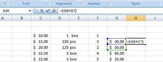 37 THE PNP BASIC COMPUTER ESSENTIALS e-learning (MS Excel 2007) Type the next mathematical operator, or the division symbol (/) to let Excel know