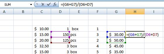 Type an open parenthesis, or ( Click on the third cell to be included in the formula (D6, for example).