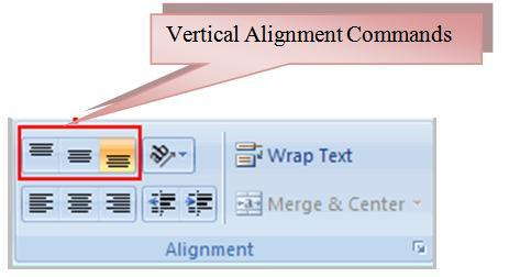 51 THE PNP BASIC COMPUTER ESSENTIALS e-learning (MS Excel 2007) To Change Vertical Alignment from the Alignment Group: Select a cell or