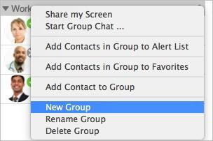 Contacts Managing Groups 2.