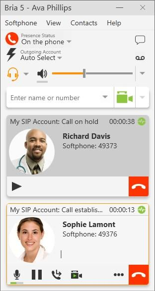 Audio and video calls Multiple calls