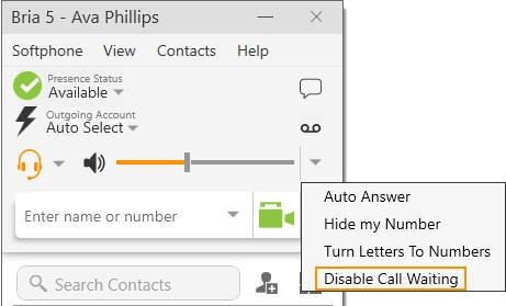 Audio and video calls Conference calls Disabling call waiting You can turn on Disable Call Waiting so active calls are not be interrupted by incoming calls.
