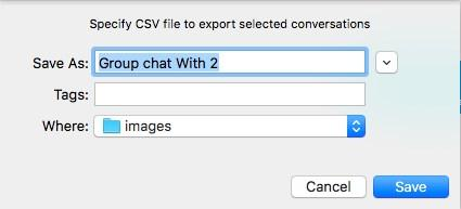 Do one of the following: Click on the session, click the More icon, and click Export Conversation.