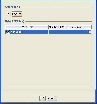 In the Select WSS(s) list specify a WSS name that you wish to define as the backup WSS to the AP.