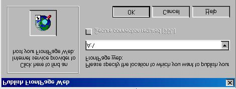 Type A:\ FrontPage is directed to save the web pages onto the floppy disk. 5. Click OK. FrontPage writes the HTML code onto your floppy disk.