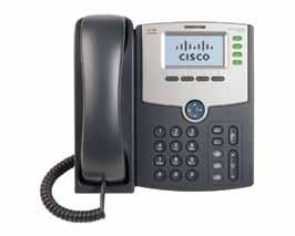 Phone Usage: Cisco SPA5xx Series Cisco phones share the same physical characteristics across different models, with only minor differences in the number of Line Keys and the type of LCD Screen used.