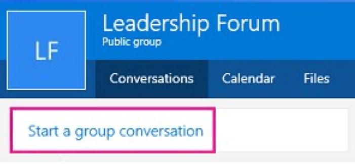 3. Select Start a group conversation. If guests are part of your group, you might see this message informing you that some recipients are outside of your organization.