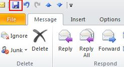 Open the mail message. 2. Click the s dropdown button. 3. Select Edit Message. 4.