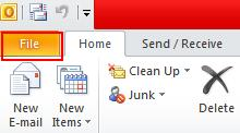 20 Microsoft Outlook 2010 Basics Print Messages You can print a message directly from the main Outlook screen. 1. Select the mail message you wish to print. 2. Click on the File menu.