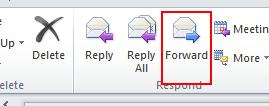 Forwarding with Comments Sometimes, you will want to forward a mail message to someone else.