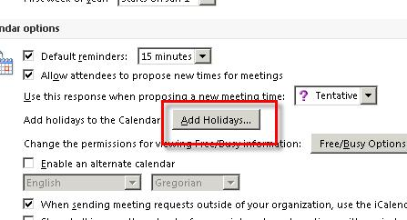 Click on the Calendar button in the Navigation Pane.