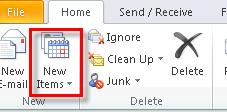 82 Microsoft Outlook 2010 Basics Deleting an Appointment 1. Locate the appointment on the calendar. 2. Right-click on the appointment.
