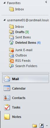 Microsoft Outlook 2010 9 Using the Navigation Pane The